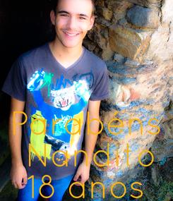 Poster:    Parabéns  Nandito 18 anos