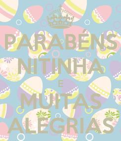 Poster: PARABÉNS NITINHA E MUITAS ALEGRIAS
