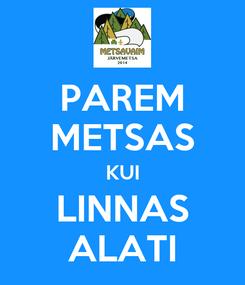 Poster: PAREM METSAS KUI LINNAS ALATI