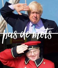 Poster: pas de mots