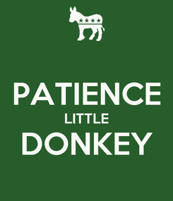 Poster:  PATIENCE LITTLE DONKEY