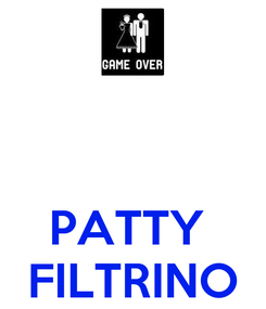 Poster:    PATTY  FILTRINO
