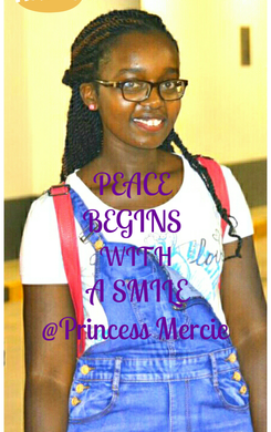 Poster: PEACE  BEGINS  WITH  A SMILE @Princess Mercie