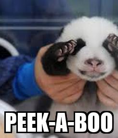 Poster:  PEEK-A-BOO