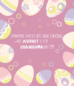 Poster: PEOPLE BORN IN THE MONTH 