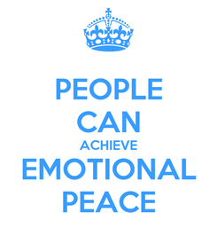 Poster: PEOPLE CAN ACHIEVE EMOTIONAL PEACE