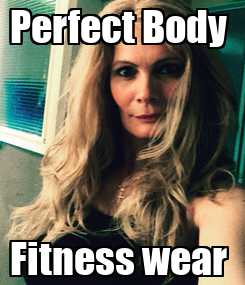 Poster: Perfect Body  Fitness wear