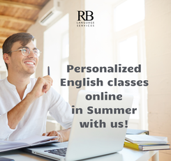 Poster:           Personalized           English classes           online           in Summer           with us!