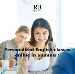 Poster:    Personalized English classes online in Summer!