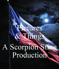 Poster: Pictures & Things  A Scorpion Sting Production