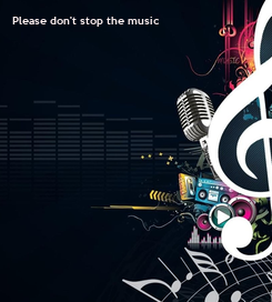 Poster: Please don't stop the music