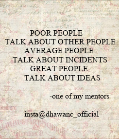 Poster:               POOR PEOPLE 