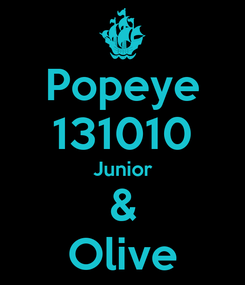Poster: Popeye 131010 Junior & Olive