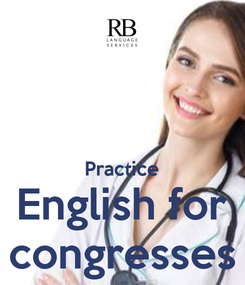 Poster:   Practice English for congresses