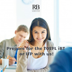 Poster:    Prepare for the TOEFL iBT  or ITP with us!