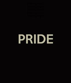Poster:  PRIDE
