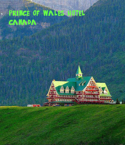 Poster: prince of wales hotel, 