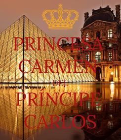 Poster: PRINCESA  CARMEN  DEL PRÍNCIPE  CARLOS