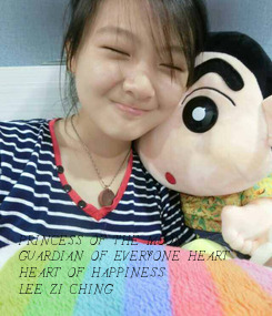 Poster:              PRINCESS OF THE MOON GUARDIAN OF EVERYONE HEART HEART OF HAPPINESS LEE ZI CHING