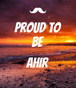 Poster: Proud to Be    AHIR