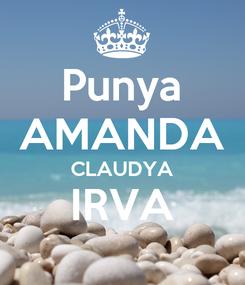 Poster: Punya AMANDA CLAUDYA IRVA