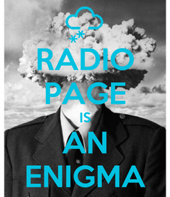 Poster: RADIO PAGE IS AN ENIGMA