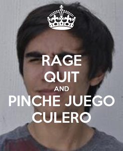 Poster: RAGE QUIT AND PINCHE JUEGO CULERO