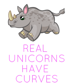 Poster:     REAL  UNICORNS HAVE  CURVES