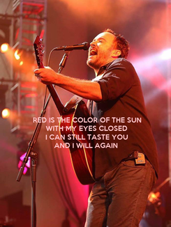 Poster: RED IS THE COLOR OF THE SUN WITH MY EYES CLOSED  I CAN STILL TASTE YOU AND I WILL AGAIN
