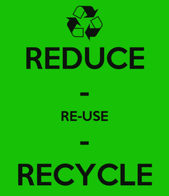 Poster: REDUCE - RE-USE - RECYCLE