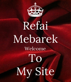 Poster: Refai Mebarek Welcome To My Site