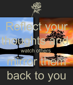 Poster: Reflect your thoughts and  watch others  mirror them back to you