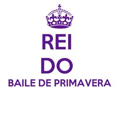 Poster: REI  DO  BAILE DE PRIMAVERA