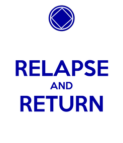Poster:  RELAPSE AND RETURN