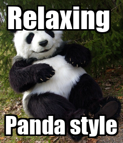 Poster: Relaxing  Panda style