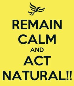 Poster: REMAIN CALM AND ACT NATURAL!!