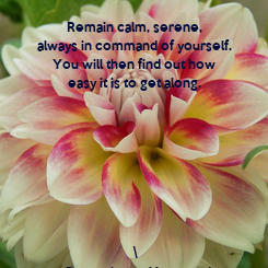 Poster: Remain calm, serene,  always in command of yourself.  You will then find out how  easy it is to get along.          \ ~ Paramahansa Yogananda