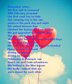 Poster: Remember when...