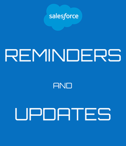Poster: REMINDERS  AND  UPDATES