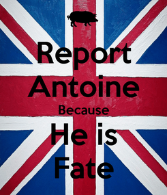 Poster: Report Antoine Because He is Fate
