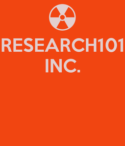 Poster: RESEARCH101 INC.