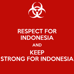 Poster: RESPECT FOR INDONESIA AND KEEP STRONG FOR INDONESIA