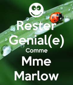 Poster: Rester Genial(e) Comme Mme Marlow