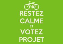 Poster: RESTEZ CALME ET VOTEZ PROJET
