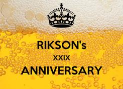 Poster:  RIKSON's XXIX ANNIVERSARY