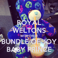 Poster: ROYAL WELTONS WITH THEIR BUNDLE OF JOY BABY PRINCE
