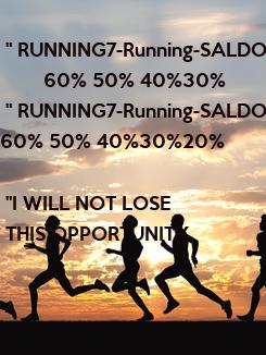 "Poster:  "" RUNNING7-Running-SALDOS         60% 50% 40%30%"