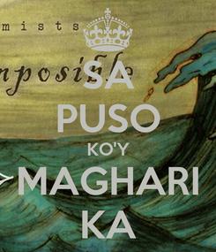 Poster: SA PUSO KO'Y MAGHARI KA