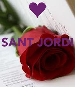 Poster:  SANT JORDI
