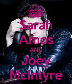 Poster: Sarah Amos AND Joey McIntyre